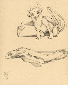 Toothless sketches by cursed-sight
