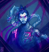 Hanzo - A devil and a dragon by JuditG
