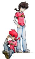 Ranma and Ranma by kra