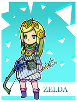 Zelda-Princess of the sun by boultim
