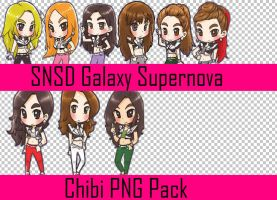 SNSD Galaxy Supernova Chibi Png Pack by meryledits17