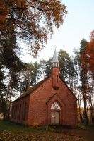 Stock - small red church by triinustock