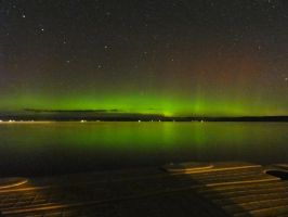 Aurora Over Round Lake by ChimeraDragonfang