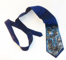 Steampunk Tie, with EL Wire by richardsymonsart