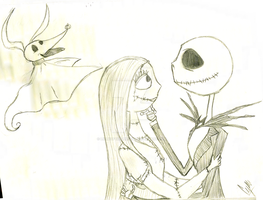 Jack and Sally + Zero by LiLlYofThOrNs777