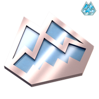 Icicle Badge 3D (NEW) by portadorX
