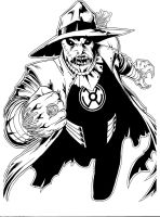 Sinestro Corps Scarecrow inks by JosephLSilver