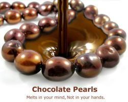 Chocolate Pearls by BeadsofCambay
