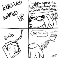 KNUCKLES SUMMED UP by soggycereal