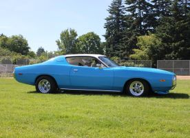 Blue '73 Dodge Charger by finhead4ever