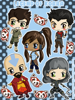Avatar: Legend of Korra Stickers by IcyPanther1