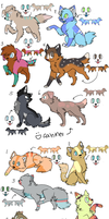 Canine and Feline adopts - OPEN by KeiriiAdoptables