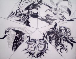Majora's Mask Bosses by Terra-of-the-Forest