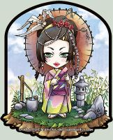 Geisha in a chibi world by oOMellyChanOo