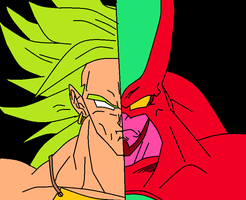 Broly vs Hatchiyack by deviantkid50