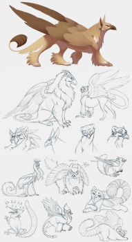 Griffins by hibbary