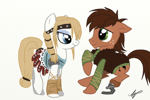Hiccup And Astrid As Ponies by ShibaSnowyNatural