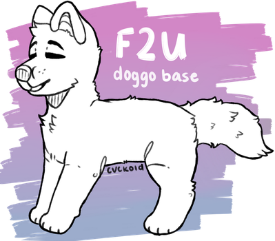 f2u mutt base by cvckold