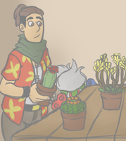 Tending to Plants by Toxicmongoose