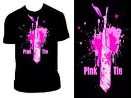 Pink Tie T by PandaPirate69