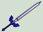 Master Sword Replica - Sprite by XinMyForehead
