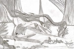 Velociraptor  Parents by YoungAngelStocking