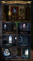 Dark Night Backgrounds by SK-DIGIART