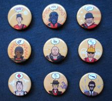 Team Fortress 2 RED Button Set by pookat