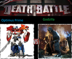 Optimus Prime Vs Godzilla by KeybladeMagicDan