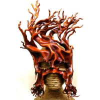 Large Gnarly Ent - leather mask by RiverGypsyArts