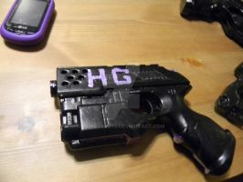hit girl nerf gun prop (work in progress) by jokesalot3