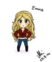 Once Upon a Time Chibified: Emma Swan by NurseRozetta95
