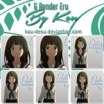 [Share] Pack 6 Render Eru Chitanda by Kou-Desu