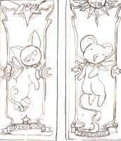 kero and spinel cards by 6wendybird91