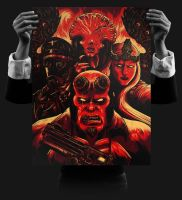 Hellboy - Angels and Demons Print by seventhfury