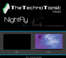 NightFly Noir For Windows Media Player by TheTechnoToast