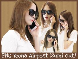 PNG Yoona Airpost (Sumi cut) by ParkSumi