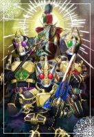 All Kamen Rider Blade King by Kiba068