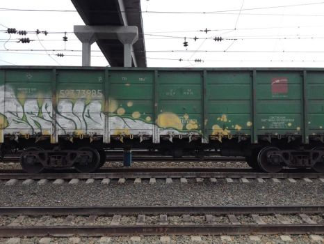 Graffiti on trains 4 by lejosland