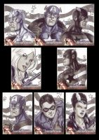 Captain America Sketchcards 3 by Guy-Bigbelly