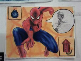 Spidey Vs Marvin the Martian by marron