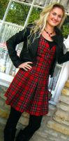 Royal Stewart Tartan Dress 2 by ThreeRingCinema