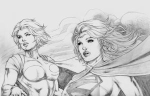 Powergirl e Supergirl by DLimaArt
