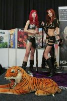 Stella and Red Sonja by Applenaut