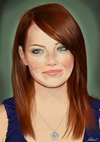 Emma Stone portrait by Meltonian