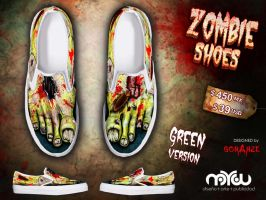 Green Version- ZOMBIE shoes by corArze