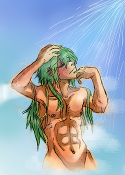 .::N Showering::. by Manicfool
