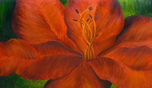 Red Flower Painting by Melyssah6