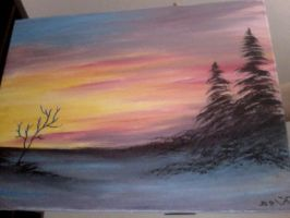 painting I did-A Crisp Winter by SonicBornAgain
