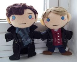 BBC Sherlock pair by sequinjar